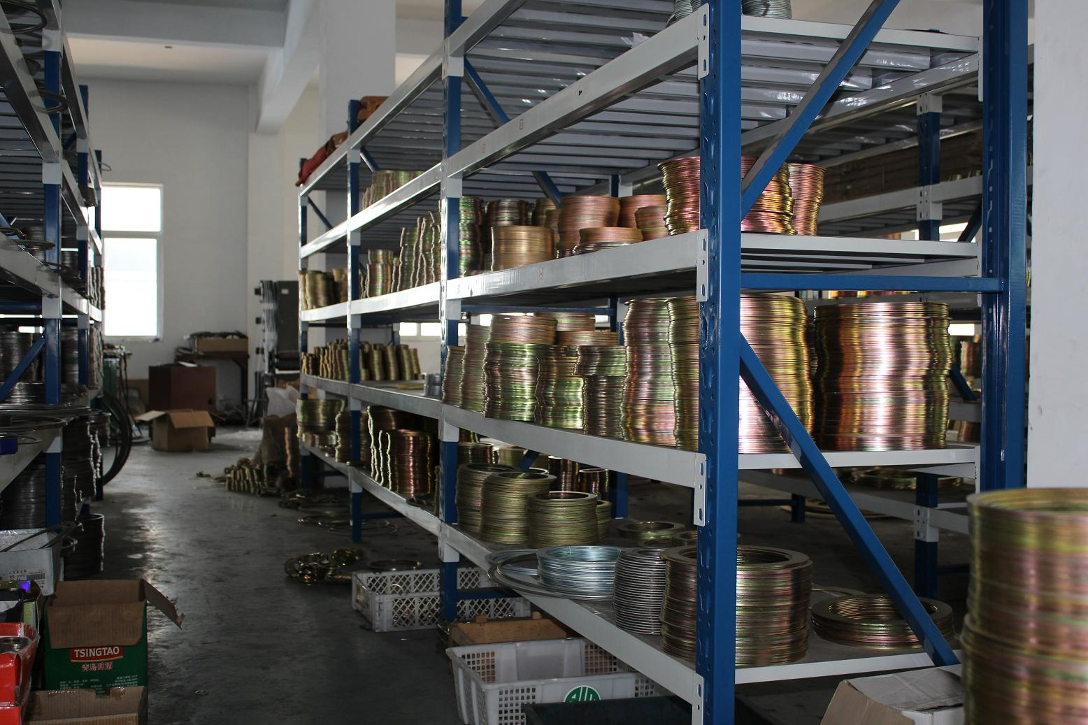 Spiral wound gasket rings in warehouse